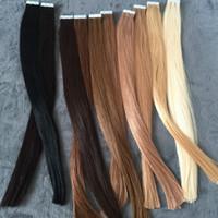 Wholesale skin weft hair extensions online - ELIBESS HAR European Human Hair Tape Hair Extension Skin Weft Hair Extensions