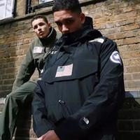 s giyim toptan satış-17SS Sp-Kuzey Kazak Ceket Erkekler Kadınlar Coats Beş Renk Moda Bayrak Giyim En Kaliteli Ceket S ~ XL HFYRF004