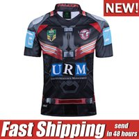 Wholesale marvel white - 2017 NRL JERSEYS Manly Sea Eagles jersey rugby league Manly Sea Eagles Shirts Marvel Captain America Special Version rugby jersey S-3XL