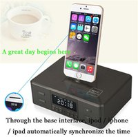 Wholesale alarm system phone - Bluetooth Audio stereo world's first three-in-one rotating charging base alarm clock Bluetooth speaker for Apple   Android system