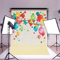 ingrosso sfondo per i bambini-1pc colorato palloncino Photograpy sfondo bambini festa celebrazione fotografia fondali muro di seta poster per studio fotografico