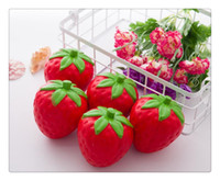 ingrosso fascino del telefono delle borse-Vendita calda Squishy Strawberry Squishy Jumbo Simulation Fruit Kawaii Artificiale Slow Rising Squishies Queeze Toys Bag Phone Charm
