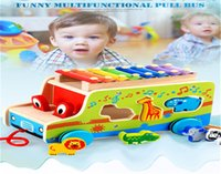 Wholesale dragging toys online - Children s early childhood toys with animal friendly concert toys that can be dragged away with intelligence