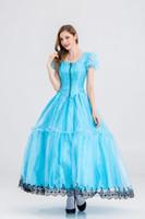 алиса чудесные платья оптовых-Хэллоуин ролевая игра Алиса в стране чудес синий Пэн юбка платье принцессы красивая сказка платье принцессы