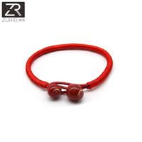 keramik armbänder armreif großhandel-Lucky Bracelets Red String Keramik Perlen Armbänder String Obst Tier Anhänger Handgemachte Armreifen Stil Mädchen Geschenk