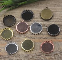 Wholesale BoYuTe Round MM MM MM Hot sale Cameo Cabochon Setting Diy Pendant Blank Base Tray