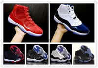 Wholesale Purple Athletic Shoes - 11 Gym Red Chicago 11s Prom Night Concord Space Jam Legend Gamma Blue Midnight Navy Basketball Shoes XI Bred Men&Woman Sports Shoe Athletics