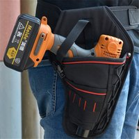 Discount types garden tools - Portable Tool Bag Impact Driver Drill Holster Canvas Tool Bag Electrician Waist Pocket Garden Belt Pouch PC896311