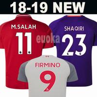 Wholesale kids football uniforms set - New 2019 Mohamed SALAH soccer Jersey 2018 VAN DIJK VIRGIL KEITA SHAQIRI Football kit Shirt FIRMINO liverpooling 18 19 Kids set uniforms