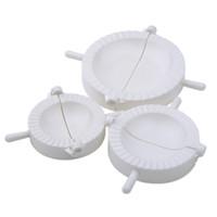 outil de fabrication de boulettes achat en gros de-3 Pcs Chinois Dumplings Moule Pâte Presse Pie Ravioli Making Maker Mouleurs De Boulette Maker Cuisine Outil