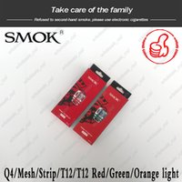 Wholesale v8 q4 coil resale online - 100 Authentic SMOK TFV8 Baby New Beast Coil Head V8 Baby Q4 Mesh Strip T12 Light T12 ohm Coils For TFV12 Baby Prince Tank