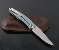 Wholesale chris reeve knives for sale - High END Chris Reeve Small Sebenza Wave Pattern Titanium Handle Pocket Knife M390 Blade Tactical Folding Camping EDC Gift Knives P293R