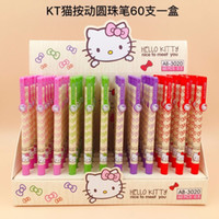 Wholesale hello kitty stationery for sale - Group buy 1 Hello Kitty Doraemon Cartoon Anime Ballpoint Pen Students Stationery Promotion Gift Children Prize mm