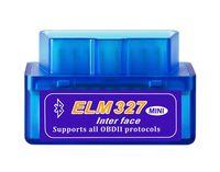 obd ii bluetooth tarayıcı toptan satış-Mini V2.1 ELM 327 OBD2 Elm327 Bluetooth Adaptör Kablosu Okuyucu Tarama Aracı Elm-327 Araba Teşhis Tarayıcı OBD 2 II Otomatik Teşhis Aracı