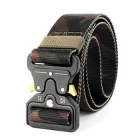 Wholesale Heavy Metal Belts - 4.5CM Camouflage Military Combat Tactical Belt Thicken Metal Buckle Nylon Belts Heavy Duty Molle Carry Survival Waist Quickly Release