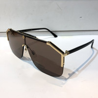 Wholesale mirror carbon - Luxury 0291 Sunglasses For Men Design Fashion Sunglasses Wrap Sunglass Half Frame Coating Mirror Lens Carbon Fiber Legs Summer Style.