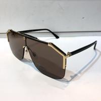 gerahmte sonnenbrille großhandel-Luxus 0291 designer sonnenbrillen Für Damenmode Sonnenbrillen Wrap Sunglass Half Frame Beschichtung Spiegel Objektiv Kohlefaser Beine Sommer Stil.