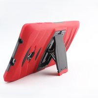 Wholesale tablet pc cases bags online - for Samsung Tab A P3200 T110 T116 T230 T330 T280 T350 T580 T560 Heavy Duty Hybrid Shockproof Case TPU Tablet PC with Stand