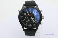 Wholesale japanese quartz chronograph movements - Luxury watch man Sapphire black 388001 3880 01 Pilot's Japanese quartz movement Chronograph Men's Watch Watches