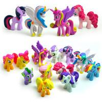 Wholesale my little pony for sale - 12 pieces set My little Pony Action Figures Cartoon Movie figurine ponies princess Celestia Luna kids Toy Gifts cake decor