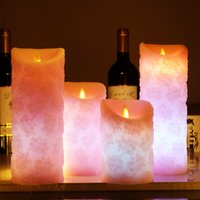 Wholesale scented flameless candles online - Remote Control Flameless Candles Color Changing Led Candle With Timer Scented Bougie Candle Electric Wedding Decoration