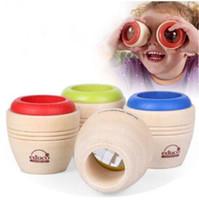 arı gözü oyuncağı toptan satış-Ahşap Eğitici Sihirli Kaleidoscope Bebek Çocuk Çocuk Öğrenme Bulmaca Oyuncak Sihirli Arı Göz Çocuklar Hediyeler Paty Favor CCA9727 60 adet