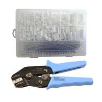 Wholesale wire connector set - 900pcs JST-XH 2.54mm Connectors Assortment Kit Crimping Tool Crimper Plier Set