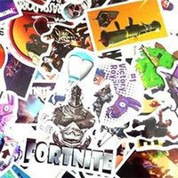 Wholesale used boots for sale - New Creative Fortnite Waterproof Boot Stickers The Fortress Night Sticker Multi Color Easy To Use Computer Pad Wall PVC Decals mq aa