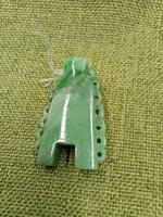 зеленые часы оптовых-Жадеит нежная подвеска с резьбой, зеленые квадратные старинные часы, висящие кусочки