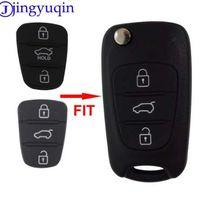 reemplazo de la cáscara del coche clave al por mayor-Jingyuqin Nuevo Reemplazo Pad de Goma 3 Botones Flip Car Remote Shell Dominante para Hyundai I30 IX35 Kia K2 K5 Key cover Case