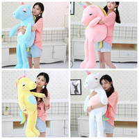 Wholesale big stuffed animals for sale - 60cm Rainbow Unicorn plush toy Gifts Kids Girls Toys m Big Cute Unicorn Plush Animals Doll Stuffed Animal Horse Toys KKA6160
