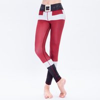 Wholesale trousers years for sale - 2017 Happy New Year Gift Christmas Leggings Tree Snow Printing Slim Low Waist Workout Fitness Women Leggings Pants Trousers