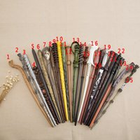 Wholesale Wand Styles - Creative Cosplay 18 Styles Hogwarts Harry Potter Series Magic Wand New Upgrade Resin with Metal Core Harry Potter Magical Wand OTH057