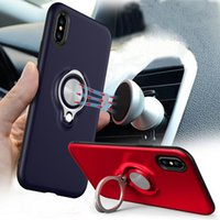 Wholesale Magnetic Ring Car Holder Case With Stand Degree Ratating Holder For New Iphone XS MAX XR X Plus Samsung Note8 S9 S8 Plus OPPBAG