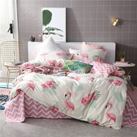 Wholesale children bedding sets online - Flamingo Aloe Cotton Bedding Sets Thickening Luxury Duvet Covers Fashion Print Cactus Quilt Cover Multi Size wj Ww