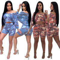 10b10d18b584 dress up outfits Canada - Womens Sexy 2 Pieces Tie-dye Printed Lace up Crop