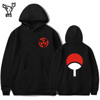 Wholesale Uchiha Hoodie - Bts Naruto Hoodies Sweatshirts Uchiha Syaringan Hooded Boys Fashion Hokage Ninjia Men  Women Classic Cartoon Printed Clothes 4xl