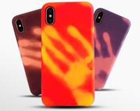 ingrosso induzione di mele-Custodia per cellulare a induzione termica a colori per iPhone 7 8 6 6s Plus Cover TPU Cover Coque Skin