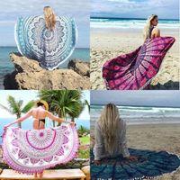 Wholesale Waterproof Mat Blanket - Wholesale- India Round Mandala Wall Hanging Beach Towel Picnic Blanket Yoga Mat Tapestry #QE89F56