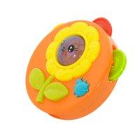 brinquedos de bebê cor música venda por atacado-Kawaii 1 PC LED Piscando Tambor de Música Chocalhos Criativos Brinquedos de Educação Para Bebê Melhores Presentes Para Recém-nascidos Cor Aleatória