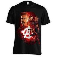 54f01bc19dd1 AVENGERS INFINITY WAR T-SHIRT ROSSO POSTER IRON UOMO SPIDERMAN DR STRANGE  [AV4766] New Casual Camicia casual in metallo