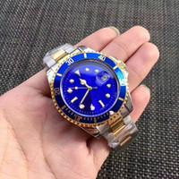 caballeros de oro al por mayor-2018 Reloj para hombre Reloj de pulsera de lujo de calidad superior, maestro, de acero inoxidable, mecánico automático, de alta calidad, dorado, negro, negro. Reloj masculino de 40 mm.
