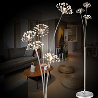 luzes de assoalho para o casamento venda por atacado-Modern Simples LEVOU Lâmpada de Chão Sala de estar Quarto lâmpada de Cristal Vestido de Noiva Loja Andar de Estudo Dandelion Luz Frete Grátis