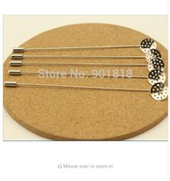Wholesale needle brooch for sale - Group buy 10pcs cm Length Copper Rhodium Color Long Jewelry Brooch Safety Pins With Safety Stoppers DIY Findings F1778