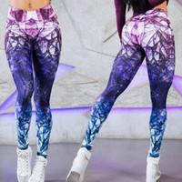 ingrosso sexy yoga misto-Pantaloni casual a vita alta di colore misto di stampa digitale a colori sexy di modo che corre leggings di marea di yoga per le donne