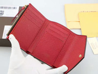 Wholesale man purse wallet for sale resale online - Hot Sale New Style Genuine Leather Short Hasp wallets for many color Men Women High Quality card holders Purses With Box Bag