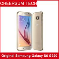 android t мобильный телефон оптовых-Оригинальный Samsung Galaxy S6 G920A / T / V / P с розничной коробкой LTE Мобильный телефон Octa Core 3 ГБ RAM 32 ГБ ROM 16MP 5.1-дюймовый Android 5.0 1 шт. Бесплатно DHL
