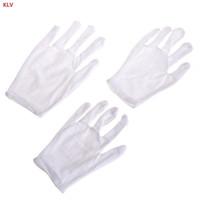 eldiven örneği toptan satış-Yaratıcı performans eldivenleri Çocuklar Eğlenceli Ekspres Beyaz Görgü Polyester Çocuk Boyutu Performans Kostüm Eldiven ücretsiz kargo