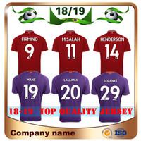 Wholesale army man uniform - Top Quality 2018 #9 FIRMINO Soccer Jersey 18 19 home red #19 MANE #11 M.SALAH Soccer shirts Away Violet LALLANA HENDERSON Football uniforms