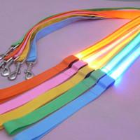 Wholesale flashing led safety dog collar for sale - Group buy 10pcs LED Luminous Pet Cat Dog leash Night Safety Flashing Pet Leads mixed colors available